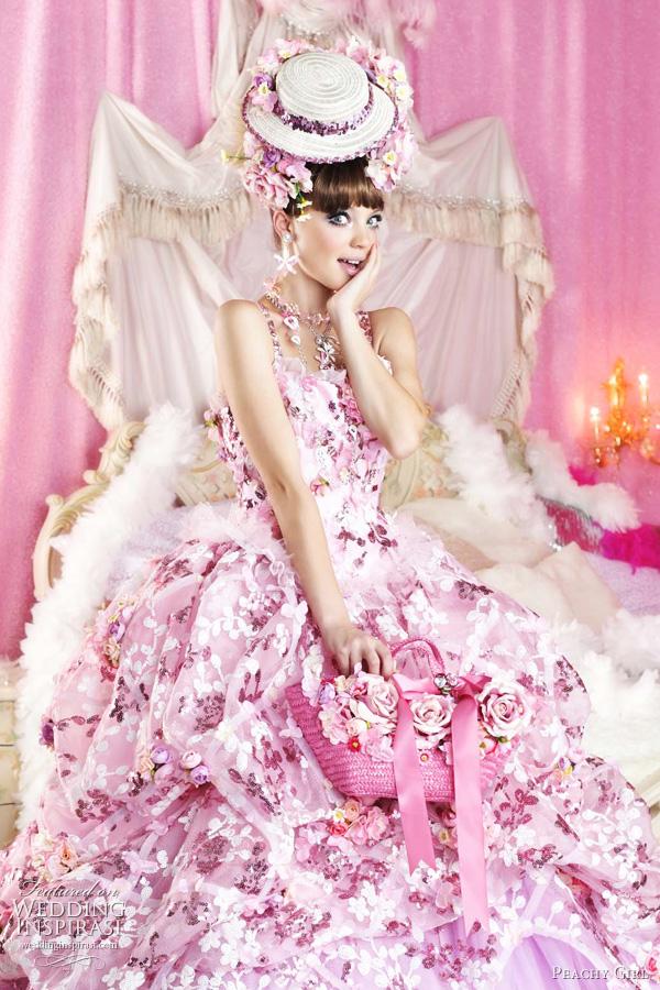 glamour and bold Flava: Beautiful Girl PINK WEDDING dresses