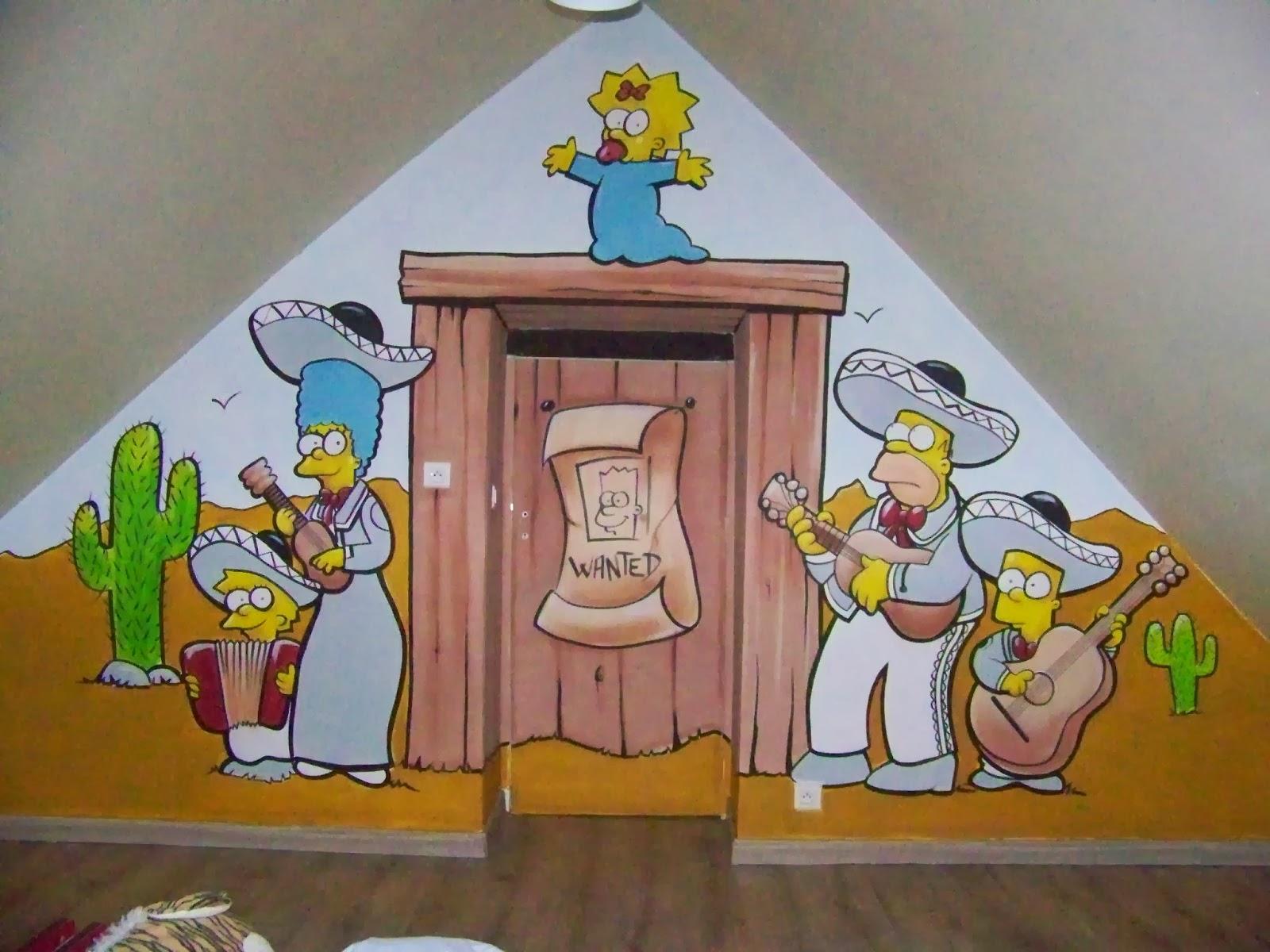 décoration chambre simpson