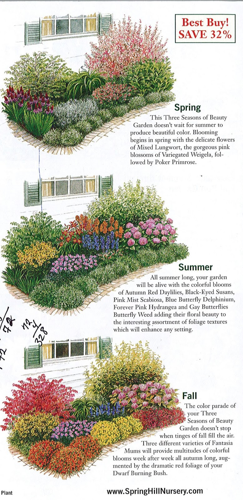 Gardening garden plan a week week 2 three seasons of beauty Better homes and gardens flower bed designs