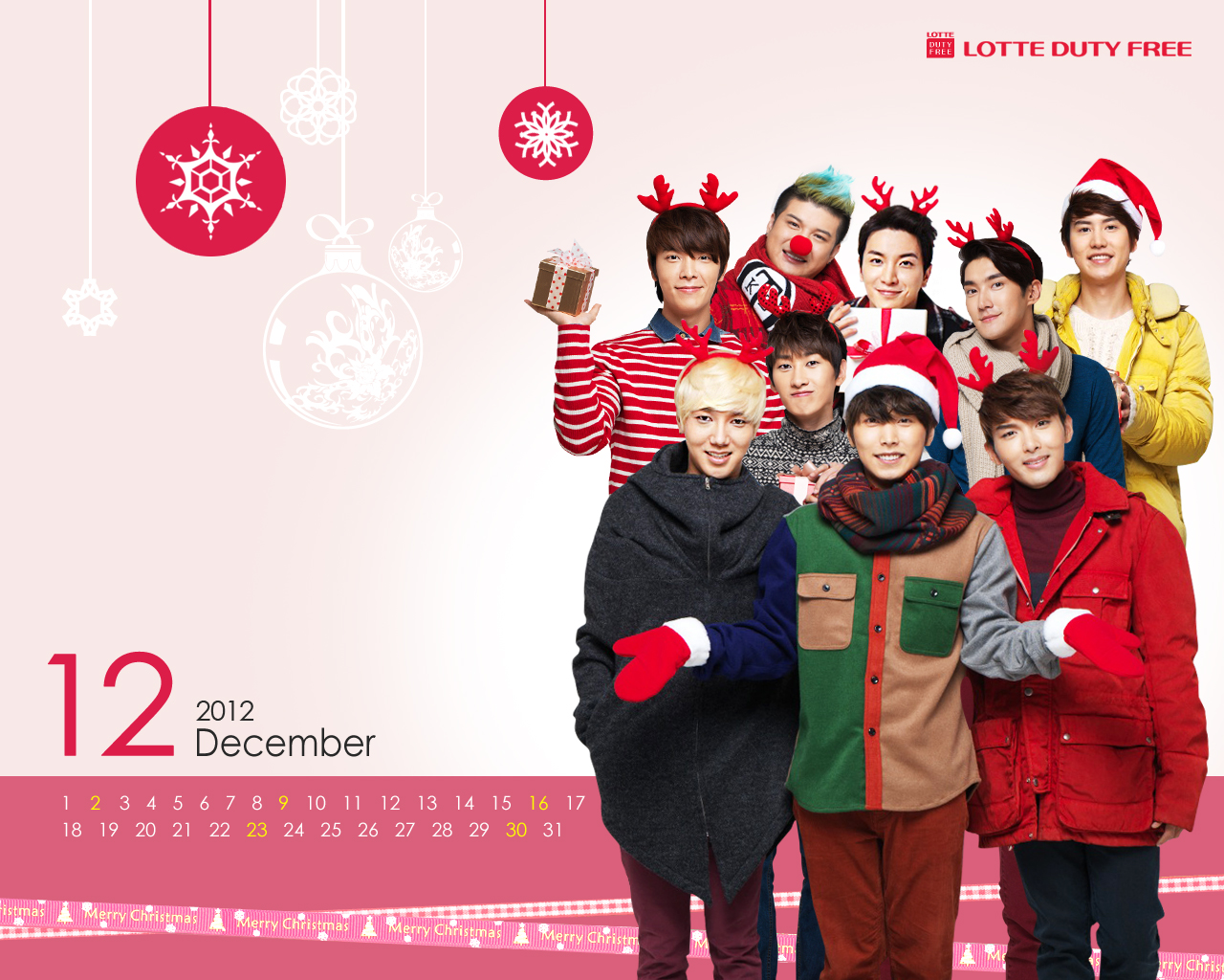 SUPER JUNIOR39;S SITE: Lotte Duty Official December Wallpaper  Super