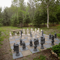 The chess set is made from Styrofoam