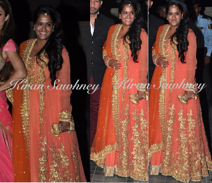 Arpita Khan At Soha Ali Khan And Kunal Khemu's Wedding Reception in Preeti S Kapoor