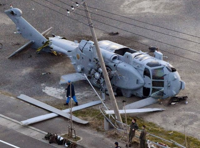 Navy helicopter crashes in Japan