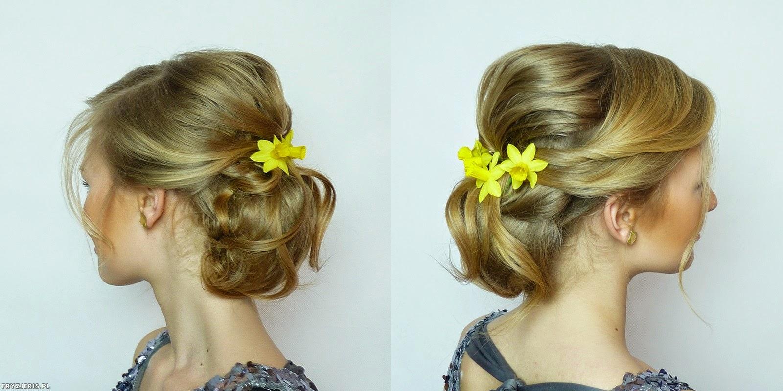 fryzura ślubna z kwiatami - 4