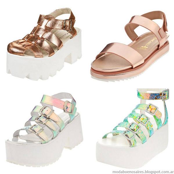 sandalias que estan de moda