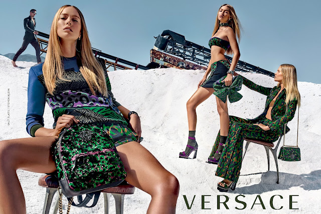 Gigi Hadid Stars in Versace's SS16 Ad Campaign!