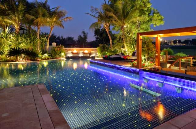 Beautiful Night Pool