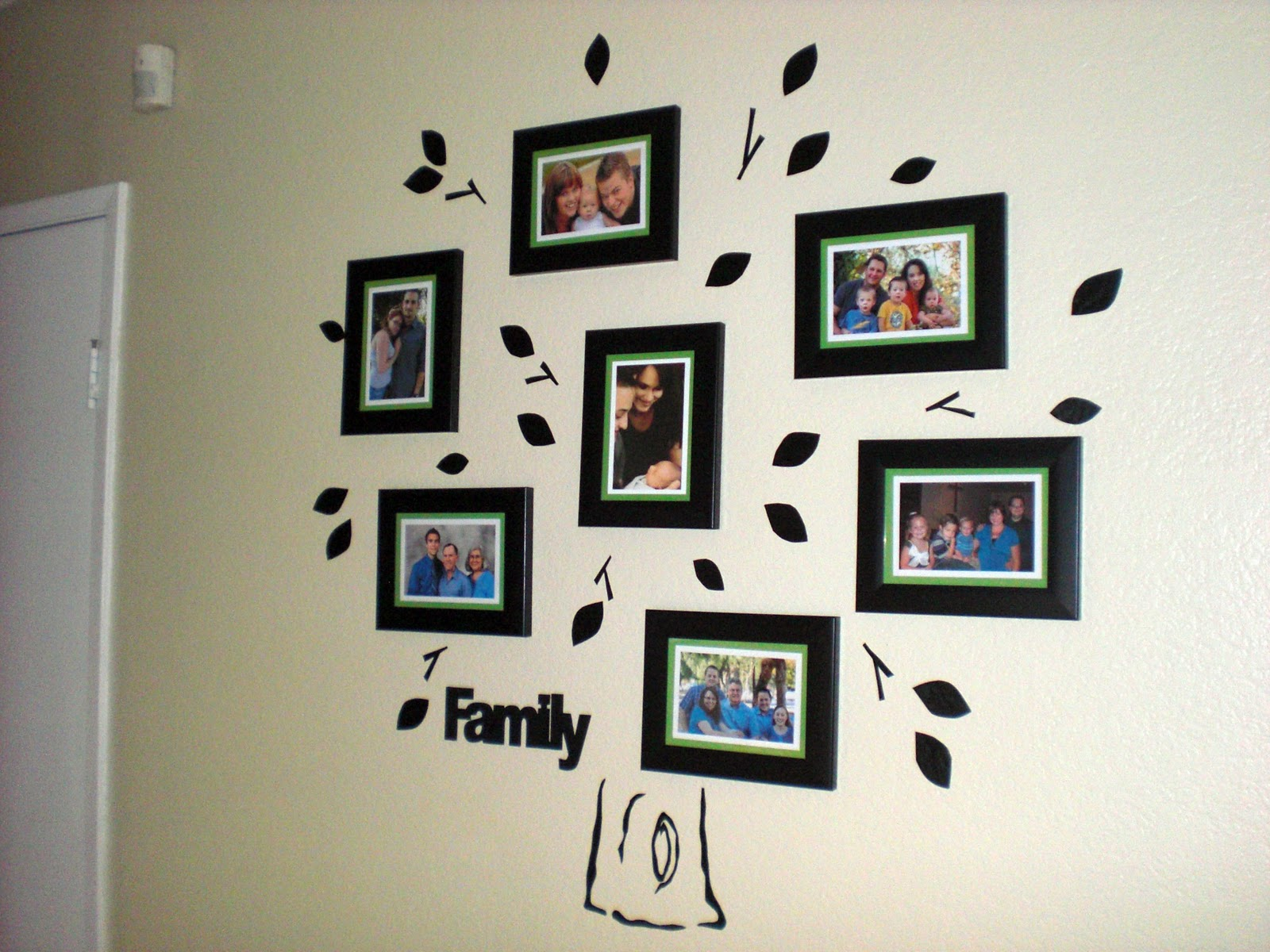 Picture frame family tree wall art tree decals trendy wall designs - Vinyl Wall Decals For Cheap