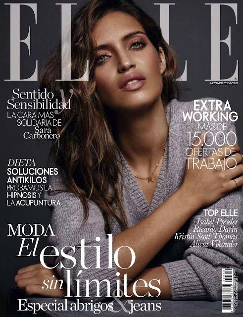 TV Presenter, Sports Journalist @ Sara Carbonero - Elle Spain, November 2015