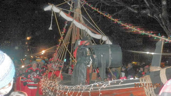 Watertown Privateers in Pirate Boat for Parade