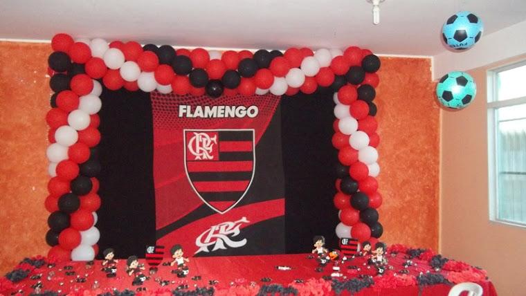 Tema Flamengo - Decoração com balão
