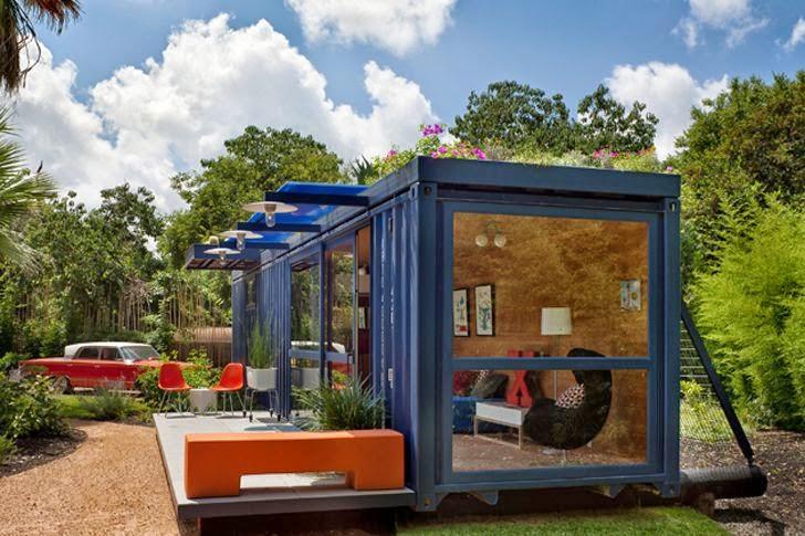 Casas contenedores casa para invitados hecha con un for Case con scantinati in texas
