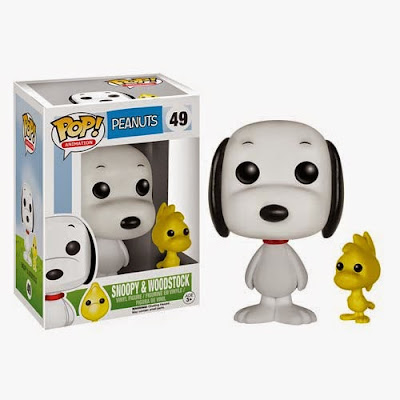 Peanuts Pop! Animation Series Vinyl Figures by Funko - Snoop and Woodstock