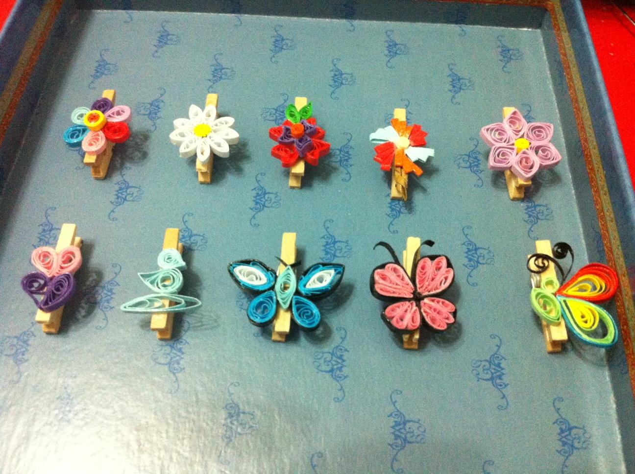 Omamori handicrafts quilling deco wooden mini pegs for Deco quilling