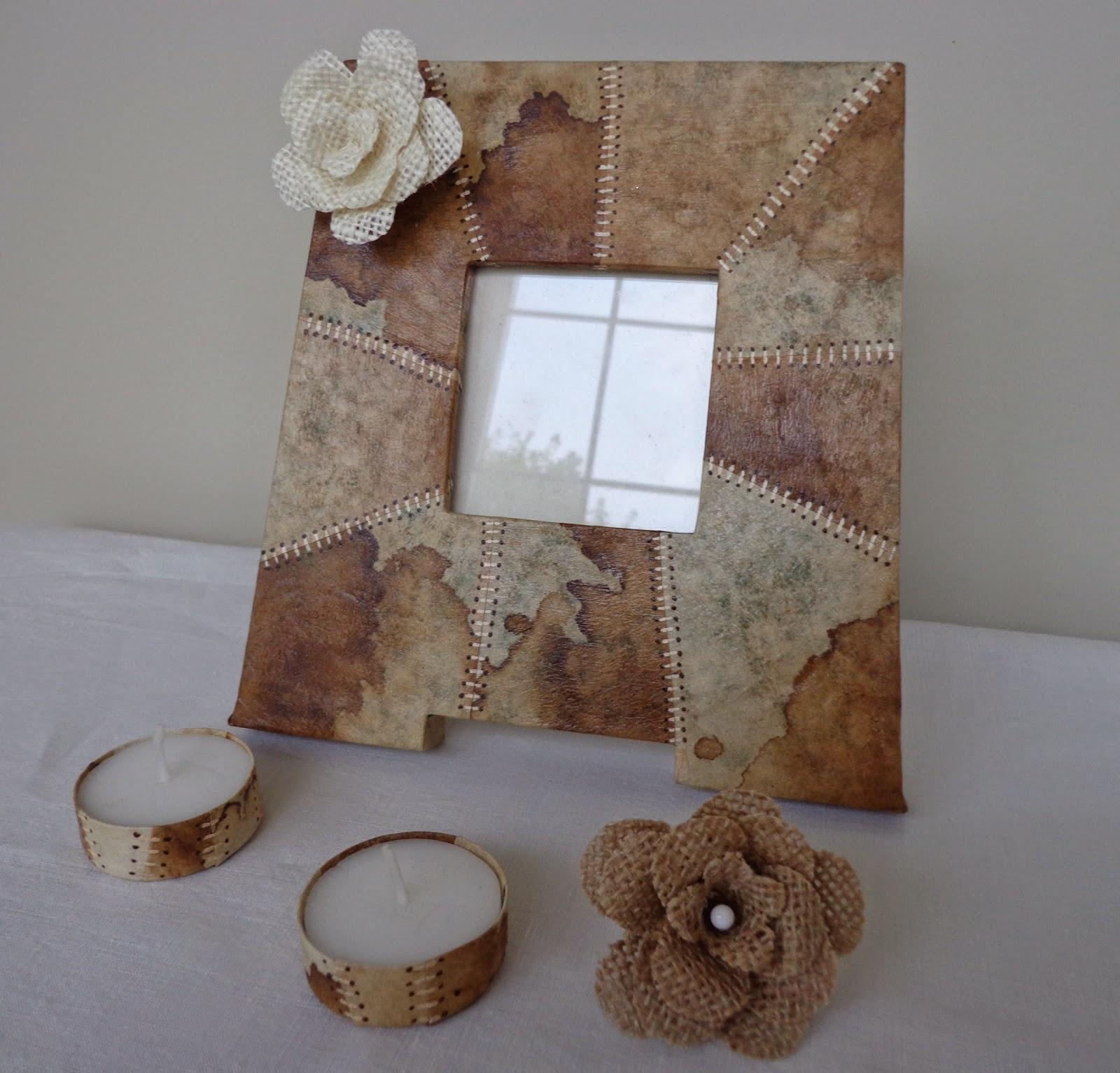 Portafotos con filtros de café y Tutorial flor de arpillera | Entre ...