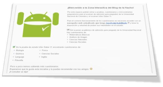 Examenes virtuales interactivos Blog de la Nacho
