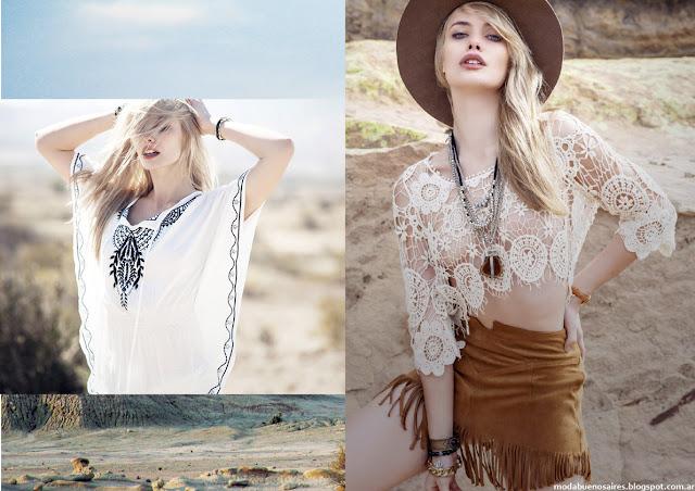 Tops de guipiure ropa de mujer moda argentina tendencia. Sweet verano 2016.