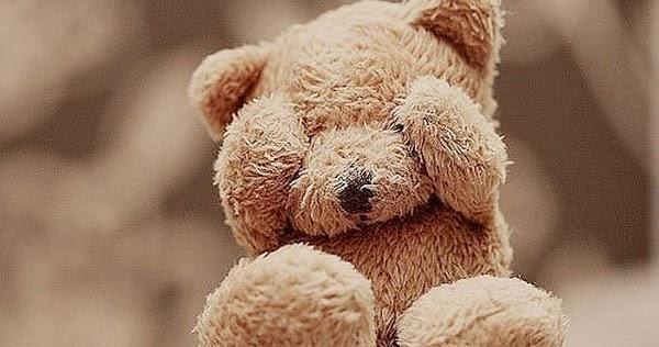 Cute Teddy Bear Hand On Face
