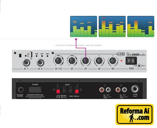Amplificador Frahm Slim 2000 USB