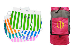 monogram nautical rope totes and mongram cooler pool totes