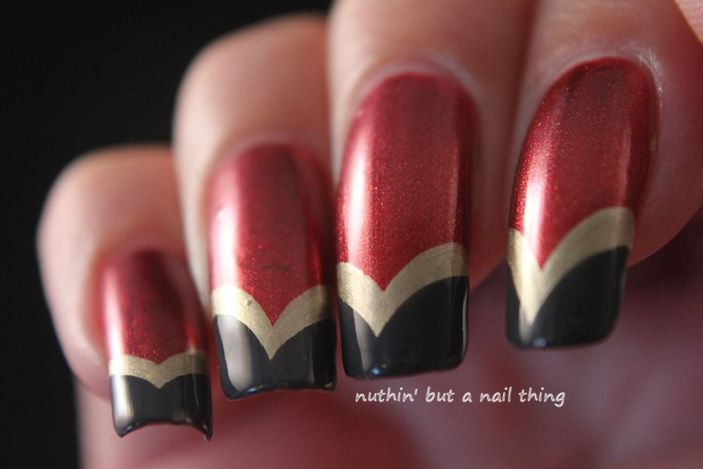 chevron nail art