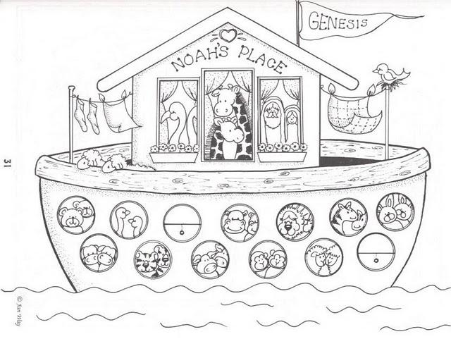 Dibujos del Arca de Noé. Entretenimientos. | Ana de Austria Religión