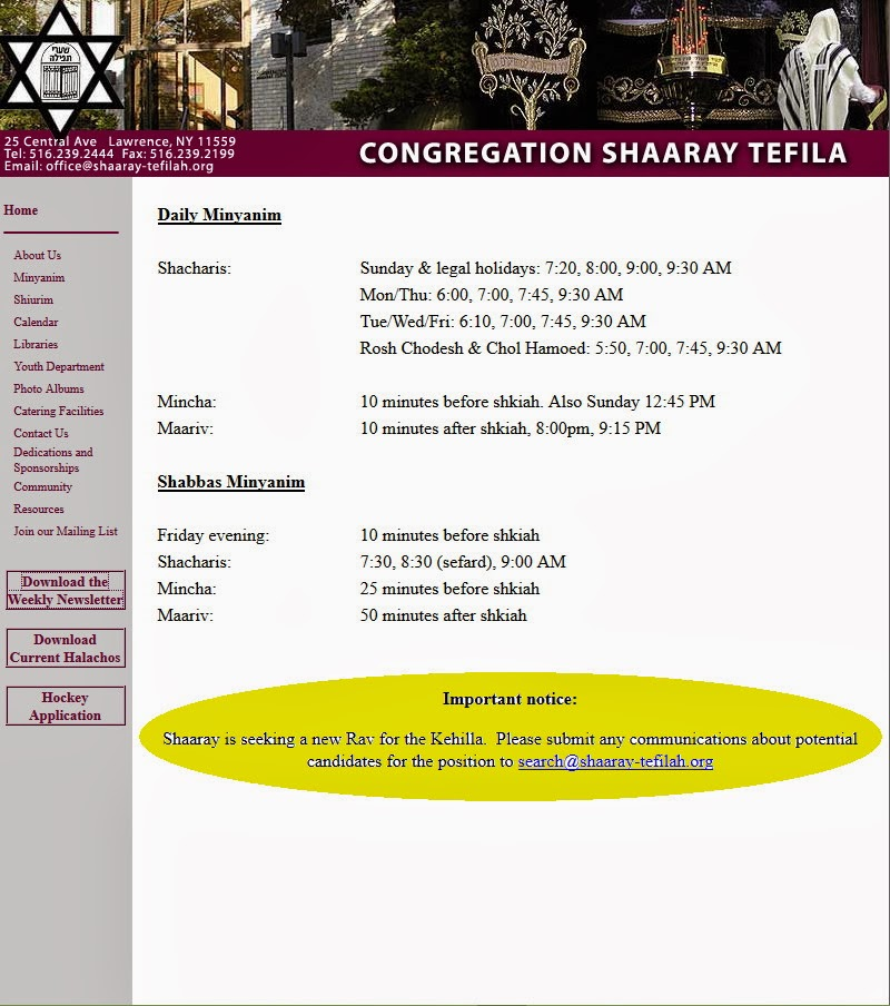 http://www.shaaray-tefilah.org/index.htm