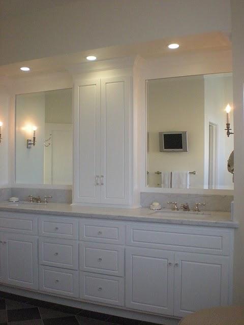 Decorating Den Interiors Susan Sutherlin Vanity Towers Take Bathroom Storage To New Heights
