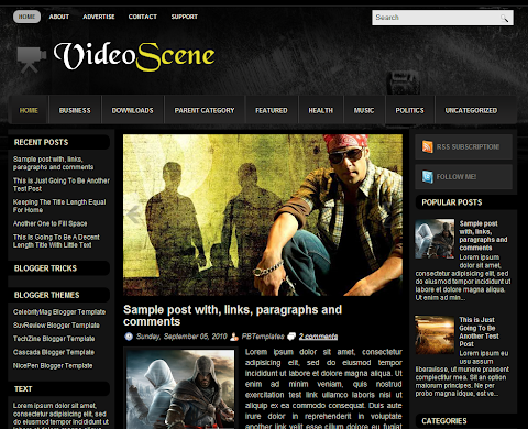 VideoScene Blogger Theme