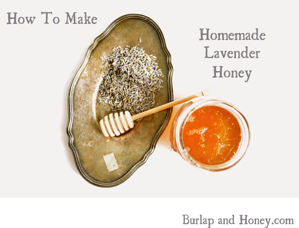 Homemade Lavender Honey