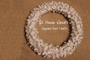 $2 Flower Wreath