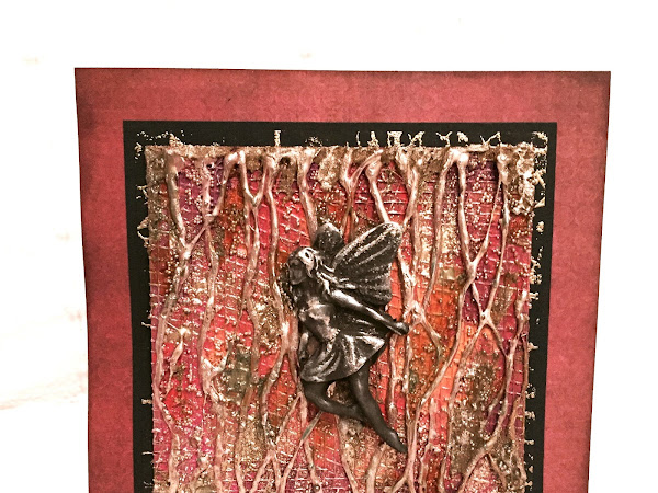 Mixed Media Fairy Card