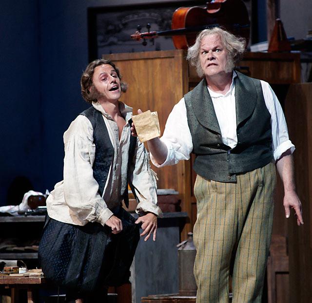 Markus Werba (Beckmesser) and Michael Volle (Hans Sachs)