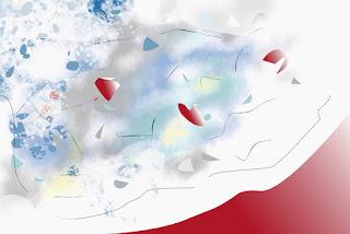 Digital painting, vector-raster