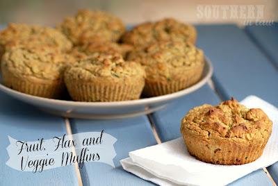 Fruit Flax and Veggie Bread Muffins - Pumpkin, Applesauce, Banana, Zucchini, Flaxseeds - Gluten Free