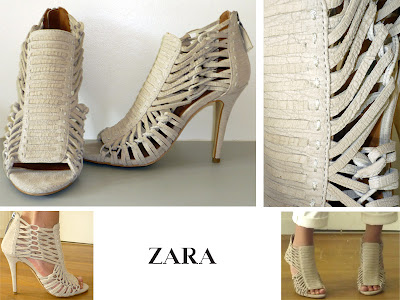 chaussures ZARA beige