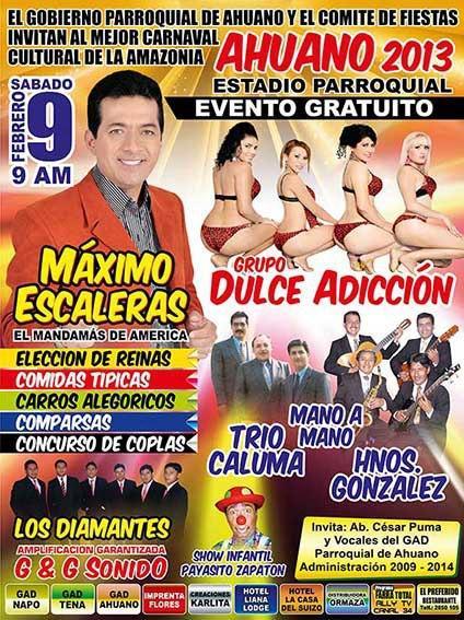 Programa de fiestas de la provincia del Napo 2013