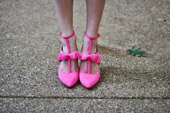 Nine West Janeil Pointy Toe Pink Pumps
