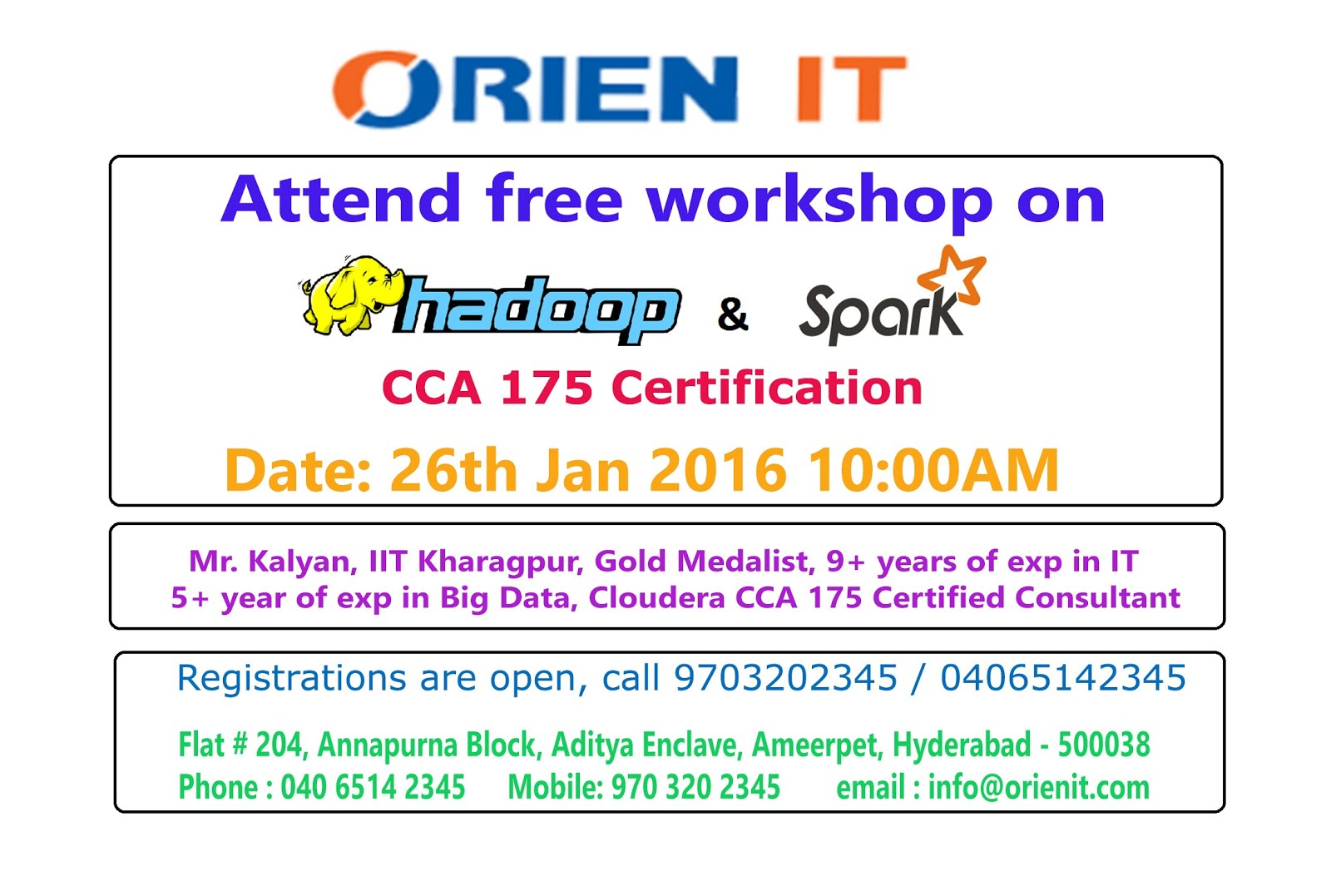 Free Workshop On Cloudera Hadoop And Spark Cca 175 Certification