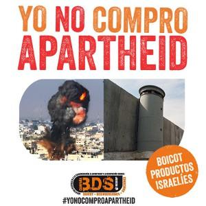 Campaña de adhesiones #YoNOComproApartheid