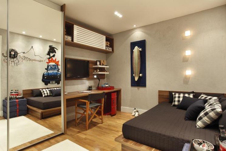 Decoração de quartos masculino solteiro – veja 40 modelos lindos