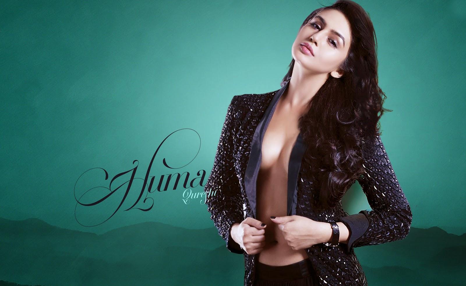 Sexy and Hot bollywood actress huma qureshi wallpaper