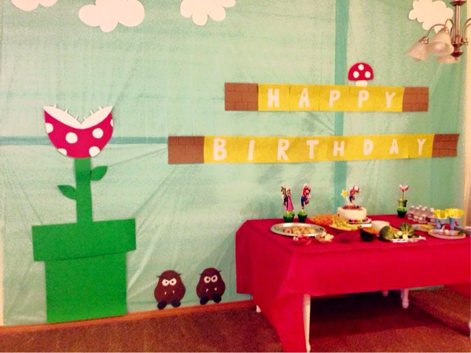 Pinterest and the pauper super mario birthday party for Mario decorations