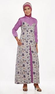 Model Gamis Kombinasi Batik