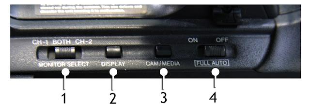 Autres boutons de réglages sur une caméra video