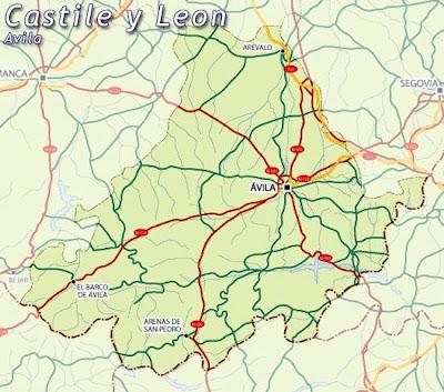 Avila Mapa Ciudad de la Región