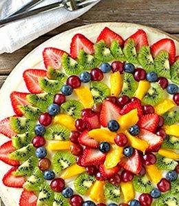 Pratos natalinos com frutas