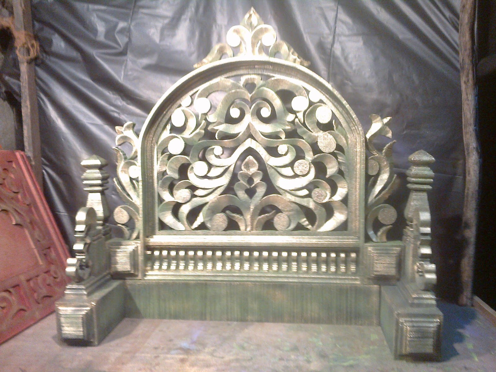 Varada Art....Thermocol art: Ganapati Makhar And Decoration