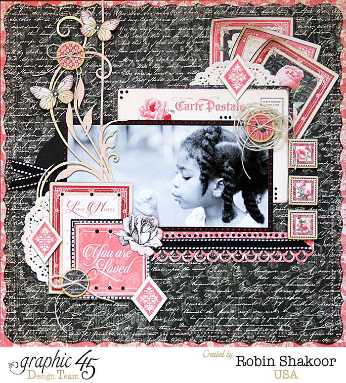 Graphic 45 Mon Amour Decorative Chipboard 4501215