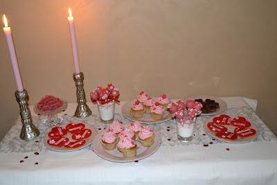 Romantiskt dessertbord
